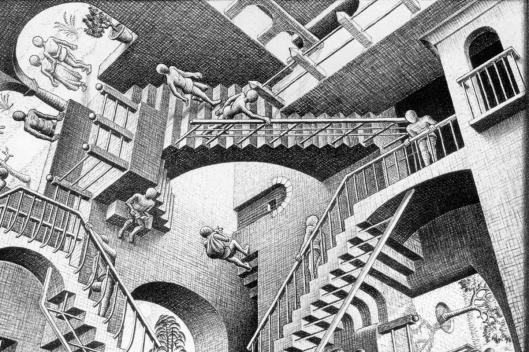 Escher, Relatività